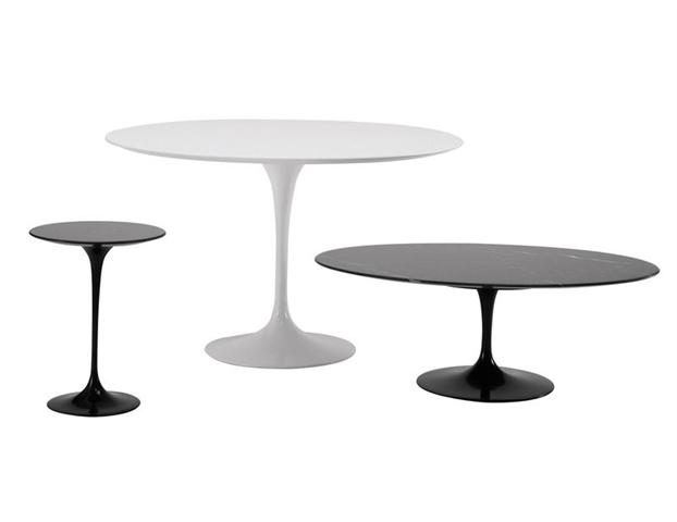 Table ronde collection saarinen tables de repas design terre design - Tafel bois blanc vieilli ...