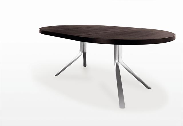 Table ovale avec rallonge design for Table de repas design