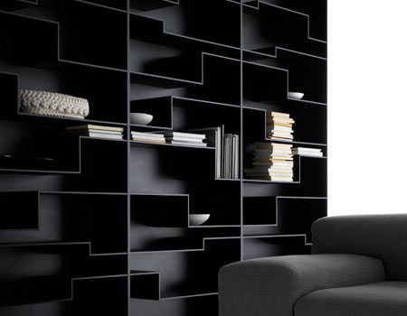 biblioth que melody biblioth ques design terre design. Black Bedroom Furniture Sets. Home Design Ideas