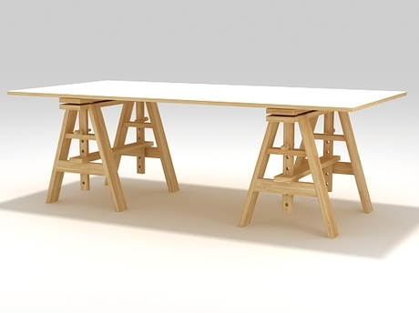 Table leonardo : bureau design terre design