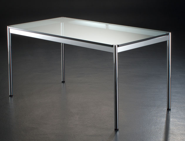 Bureau haller table verre bureau design terre design for Table bureau