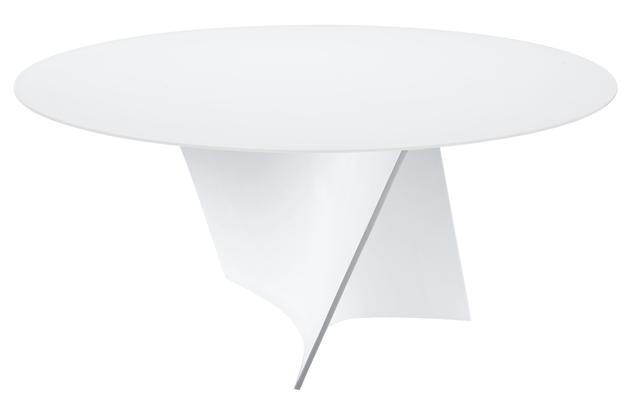Table elica tables de repas design terre design for Table de cuisine ronde en verre pied central