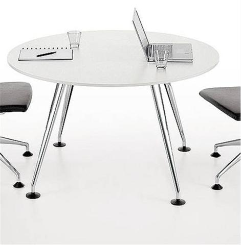 Table de r union medamorph ronde tables de r union - Chaise de bureau ronde ...
