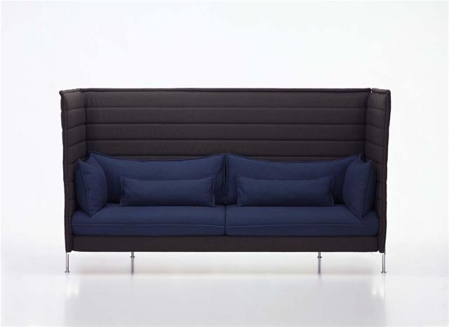 Canap alcove highback sofa sofas design terre design for Canape alcove bouroullec